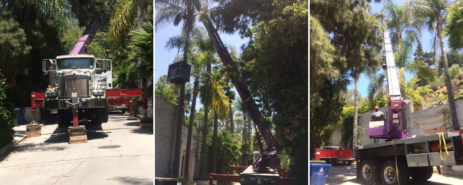Hollywood Hills Crane Services